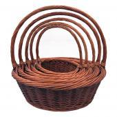 Decostar™ Wicker Baskets 5pc/set - 2 Sets (10 Pieces) - Brown
