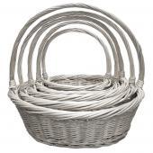 Decostar™ Wicker Baskets 5pc/set - 2 Sets (10 Pieces) - White