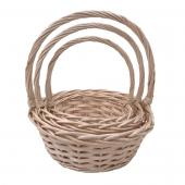 Decostar™ Wicker Baskets 3pc/set  - 4  Sets (12 Pieces) - Natural