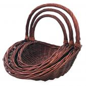 Decostar™ Wicker Baskets 3pc/set  - 2  Sets (6 Pieces) - Brown