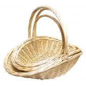 Decostar™ Wicker Baskets 3pc/set  - 2  Sets (6 Pieces) - Natural