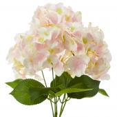"18"" Blush Artificial Hydrangea Bouquet - 24 Bunches"