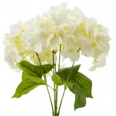 "18"" Ivory Artificial Hydrangea Bouquet - 24 Bunches"
