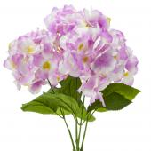 "18"" Lavender Artificial Hydrangea Bouquet - 24 Bunches"