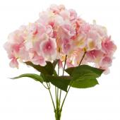 "18"" Pink Artificial Hydrangea Bouquet - 24 Bunches"