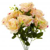 "19"" Blush Artificial Flower Bouquet - 12 Bunches"
