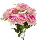 """19"""" Pink Fuchsia Artificial Flower Bouquet - 12 Bunches"""