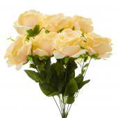 "19"" Peach Artificial Flower Bouquet - 12 Bunches"