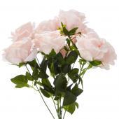 "19"" Soft Pink Artificial Flower Bouquet - 12 Bunches"