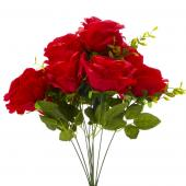 "19"" Red Artificial Flower Bouquet - 12 Bunches"