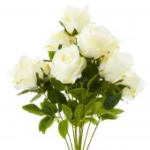 "23"" Ivory Artificial Flower Bouquet - 12 Bunches"