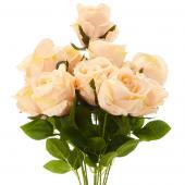 "23"" Peach Artificial Flower Bouquet - 12 Bunches"