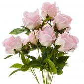 "23"" Soft Pink Artificial Flower Bouquet - 12 Bunches"