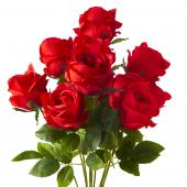 "23"" Red Artificial Flower Bouquet - 12 Bunches"
