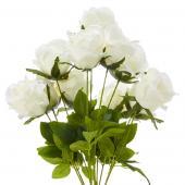 "23"" White Artificial Flower Bouquet - 12 Bunches"