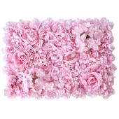 Decostar™ Pink Artificial Mixed Flower Mat - 12 Mats