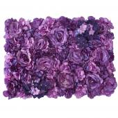 Decostar™ Purple Artificial Mixed Flower Mat - 12 Mats