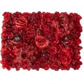 Decostar™ Red Artificial Mixed Flower Mat - 12 Mats