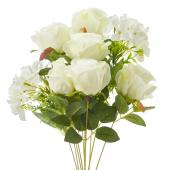 Decostar™ Artificial Mixed Flower Bouquet - 12 Pieces