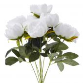 Decostar™ Artificial Flower Bouquet - White Peony - 12 Pieces