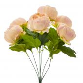 "Artificial English Rose Bunch 18½"" - 24 Pieces - Blush"