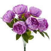 "Artificial English Rose Bunch 18½"" - 24 Pieces - Lavender"