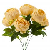 "Artificial English Rose Bunch 18½"" - 24 Pieces - Peach"