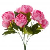 "Artificial English Rose Bunch 18½"" - 24 Pieces - Pink"