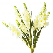Artificial Flower w/ Greenery Stem - 30 Pieces - Ivory