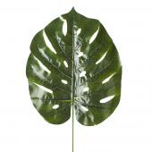 "Artificial Monstera Leaves - 12"" x 27"" - 48 Leaves - Green"