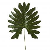 "Artificial Monstera Type Leaves - 13"" x 25"" - 48 Leaves - Green"