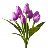 Artificial Large Bunch Tulip Flowers - 36 Pieces - Purple