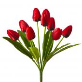 Artificial Large Bunch Tulip Flowers - 36 Pieces - Red