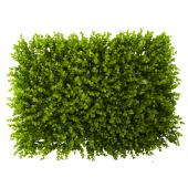 "Artificial Boxwood Leaves Mat - 28"" x 21"" - 12 Pieces"