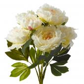 "Artificial Peony Flowers - 22"" - 12 Bunches - White"