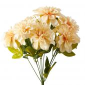 Artificial Dahlia Flower Bunch - 36 Pieces - Blush