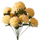 "Artificial Hydrangea Flower Bunch - 20"" - 24 Bunches - Peach/Blush"