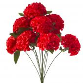 "Artificial Hydrangea Flower Bunch - 20"" - 24 Bunches - Red"