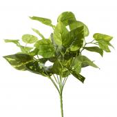 "Artificial Philodendron Leaf Bunch - 2 Tone - 14"" - 48 Pieces"