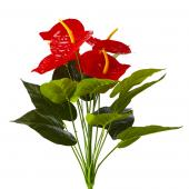 Artificial Red Anthurium Bunch 2 - 48 Pieces - Red
