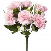 Artificial Carnation Flower Bunch - 48 Pieces - Pink