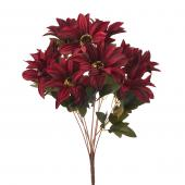 "Artificial African Daisies Sunflower 18"" - 24 Pieces - Burgundy"