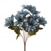 "Artificial African Daisies Sunflower 18"" - 24 Pieces - Blue"