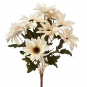 "Artificial African Daisies Sunflower 18""- 24 Pieces - White"