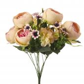"Artificial Peony And Hydrangea 20"" - Blush - 12 Pieces"
