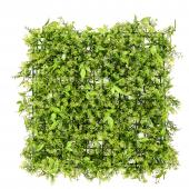 "Artificial Mixed Greenery Mat - Style B - 19"" x 19"" - 12 Pieces"