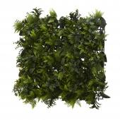 "Artificial Mixed Greenery Mat 18"" x 18"" - Dark Green - 12 Pieces"