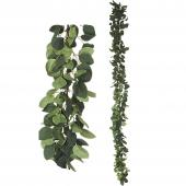 "Artificial Eucalyptus Garland - 62"" Long - 24 Pieces"