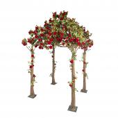 Artificial Rose Gazebo 11 ft - Red