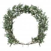 Round Eucalyptus Leaf Wedding Ceremony Arch - 7.5 Feet Tall
